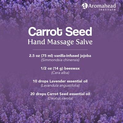 Blog-Dec 3-Carrot Seed Hand Massage Salve-recipe- 1200 x 1200