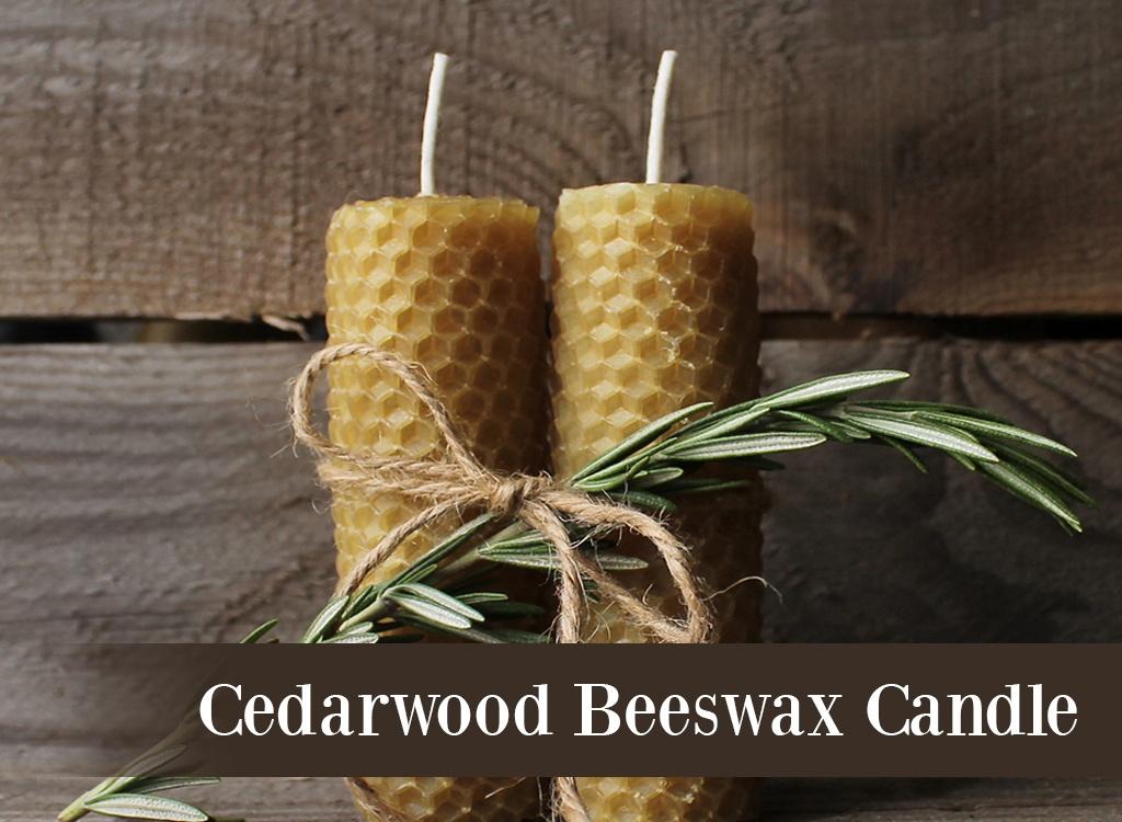 Cedarwood Oil Beeswax Candle