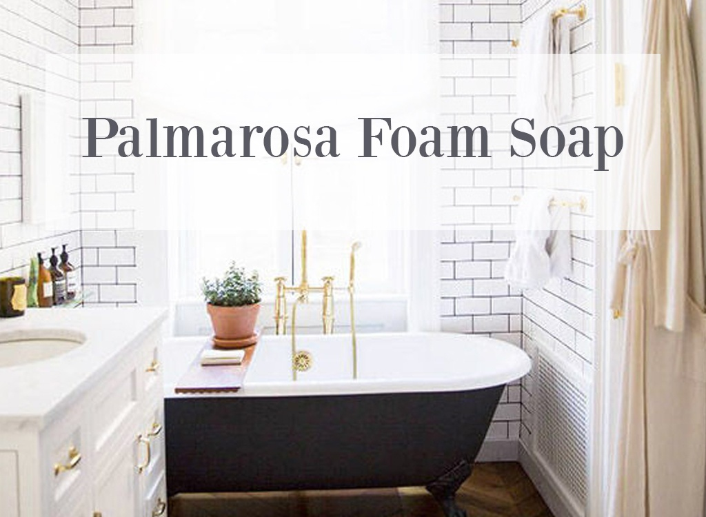 Palmarosa Essential Oil Foam Soap