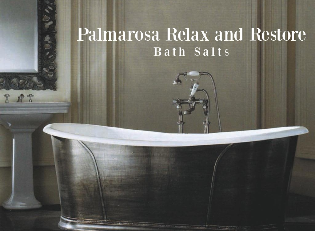 Palmarosa Essential Oil Relaxing Bath Salts