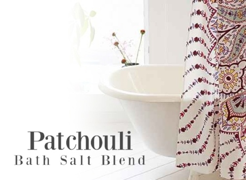 Patchouli Essential Oil Bath Salt Blend