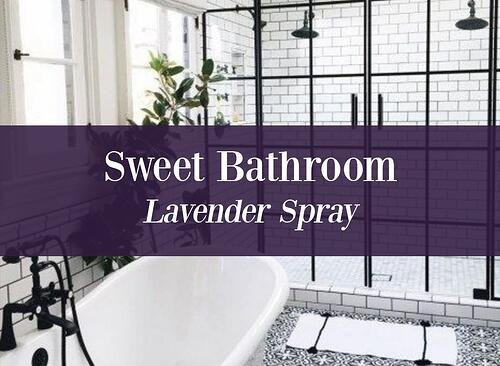 Sweet Bathroom Lavender Oil Spray