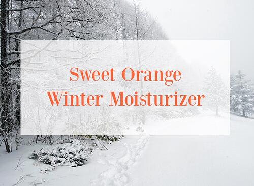 Sweet Orange Essential Oil Winter Moisturizer