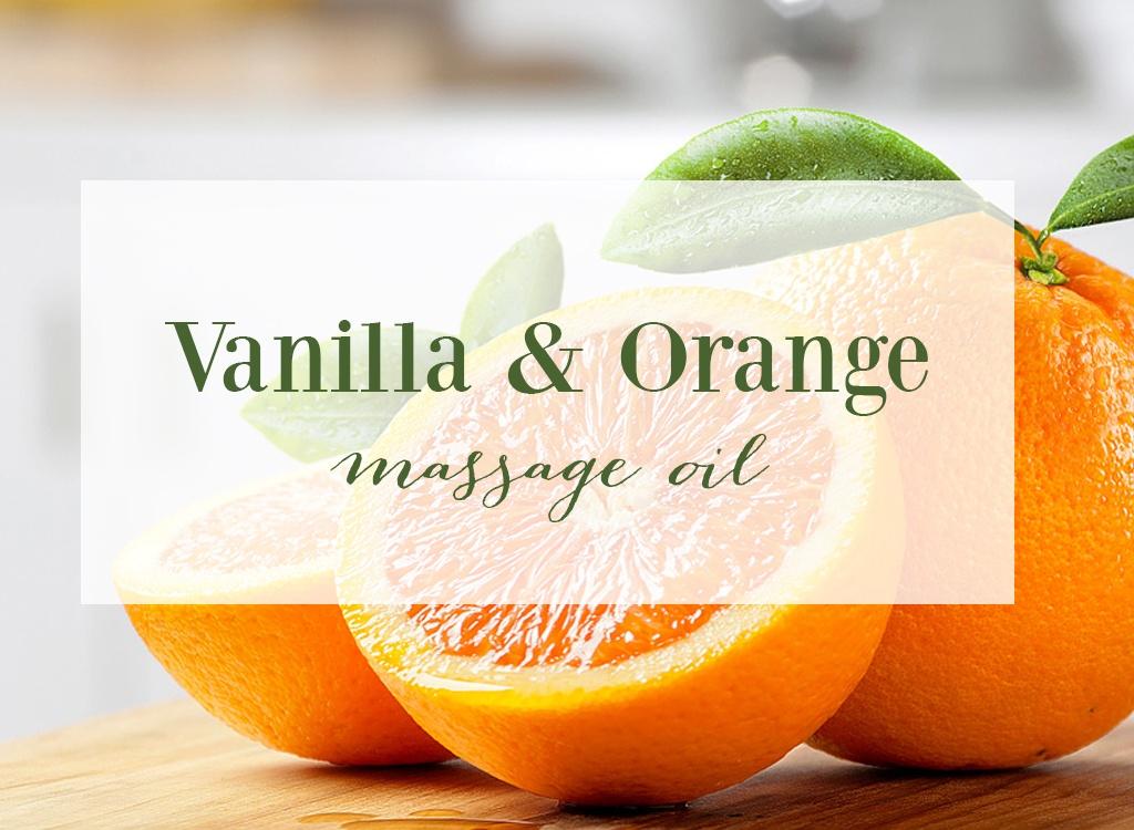 Vanilla and Orange Essential Oil Massage Oil