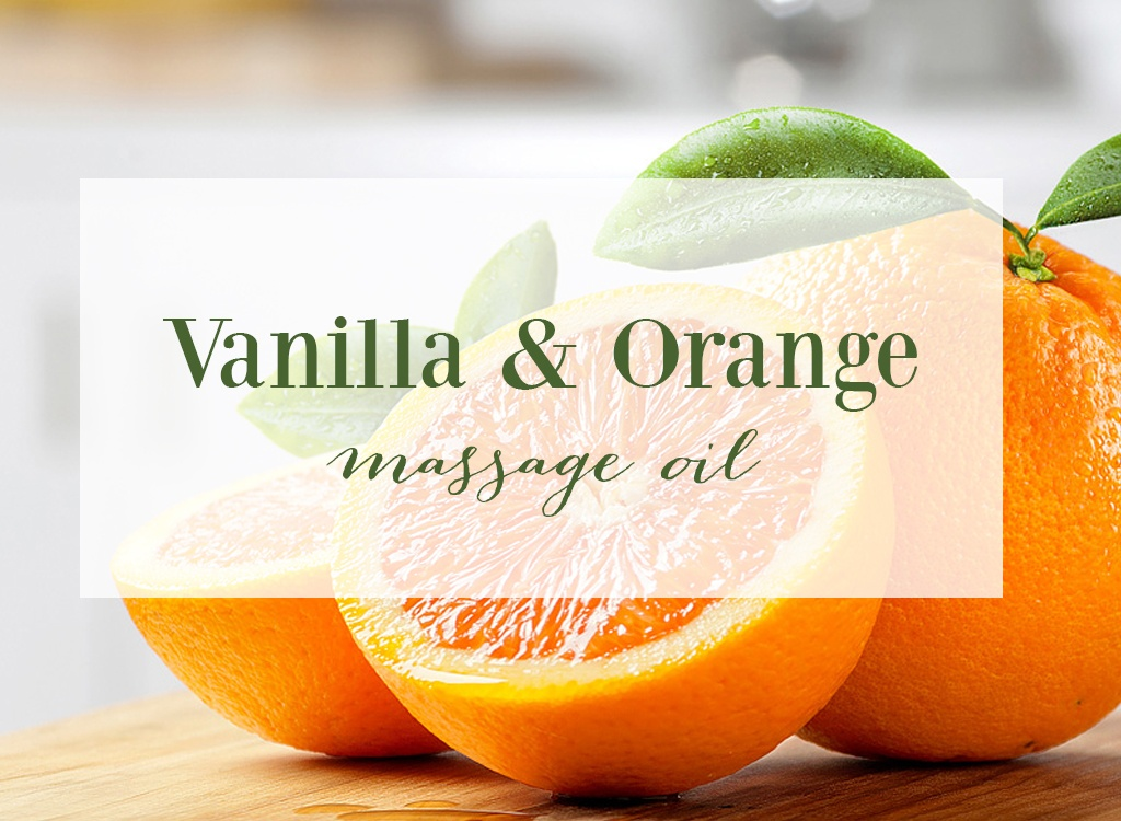 Vanilla and Orange Essential Oil Massage Oil