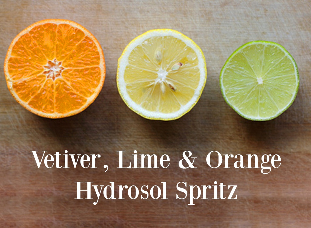 Vetiver Lime and Orange Hydrosol Spritz