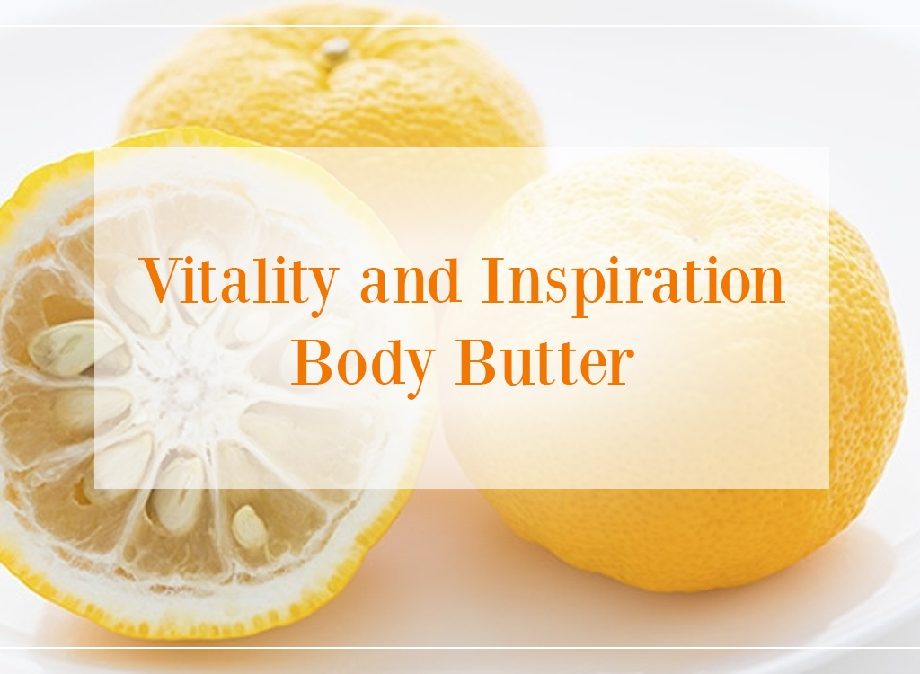 Yuzu Essential Oil Vitality And Inspiration Body Butter