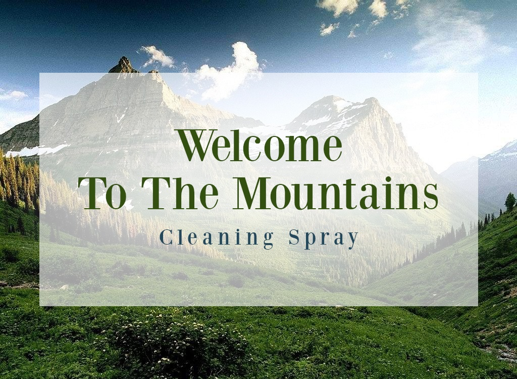 Welcome To The Mountains Cleaning Spray