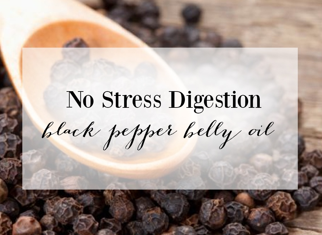 no stress digestion black pepper belly oil
