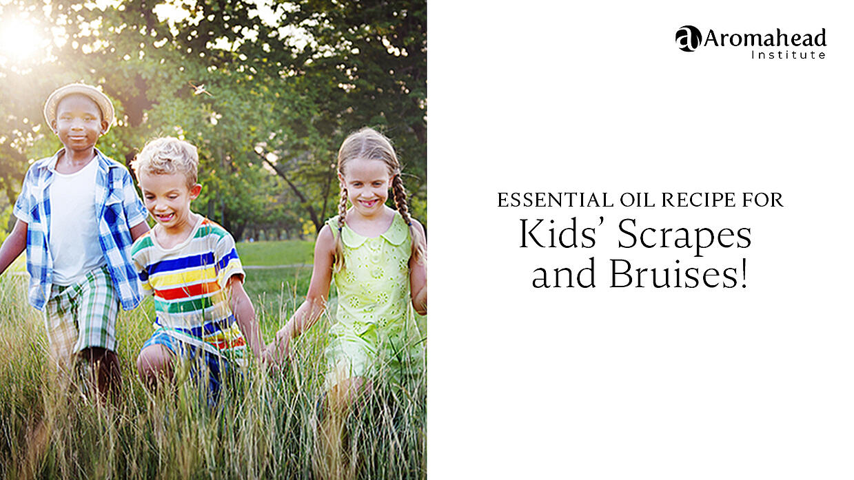 Essential Oil Recipe for Kids Scrapes and Bruises